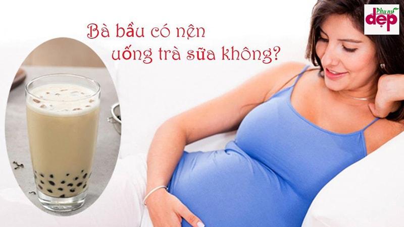 Mẹ bầu có nên uống trà sữa không? (Ảnh:Internet)