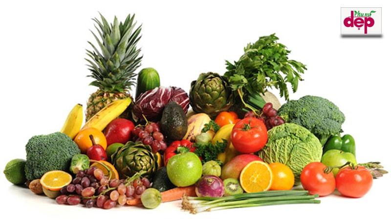 Một số loại thực phẩm rau củ quả bạn nên dùng để giảm stress. (Ảnh: Internet)