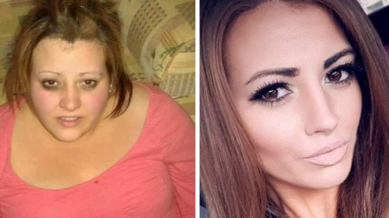 Neil trước và sau khi giảm được hơn 85 kg. (Ảnh: SWNS)